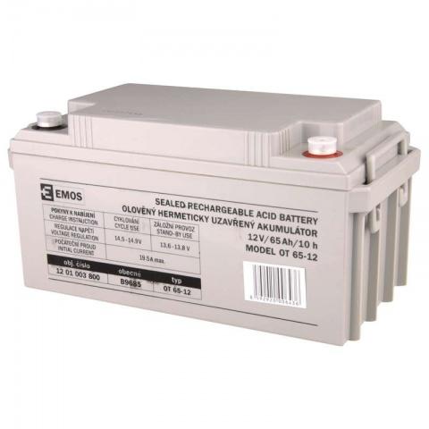 Olovený akumulátor SLA 12 V 65 Ah M8, AGM