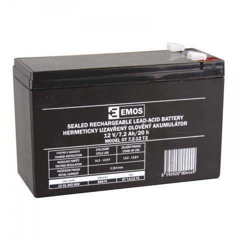 Olovený akumulátor SLA 12V 7,2Ah FA6,3, AGM