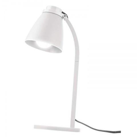 Stolná lampa Lolli s LED žiarovkou biela