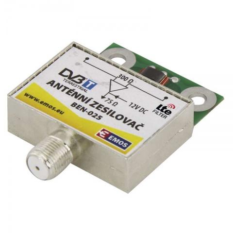 Anténny predzosilovač 25dB VHF/UHF
