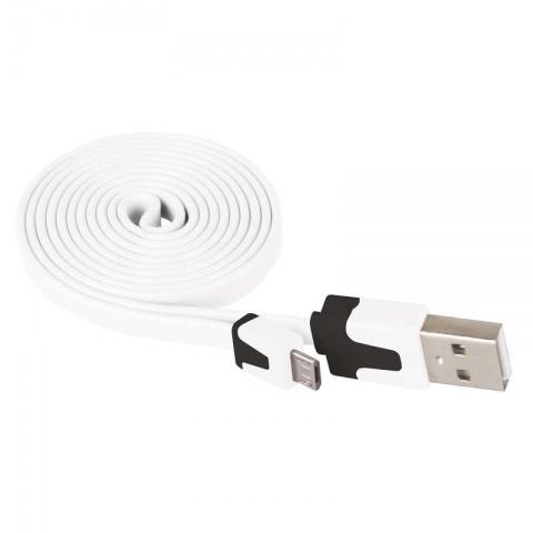 USB kábel 2.0 A/M - micro B/M 1m biely