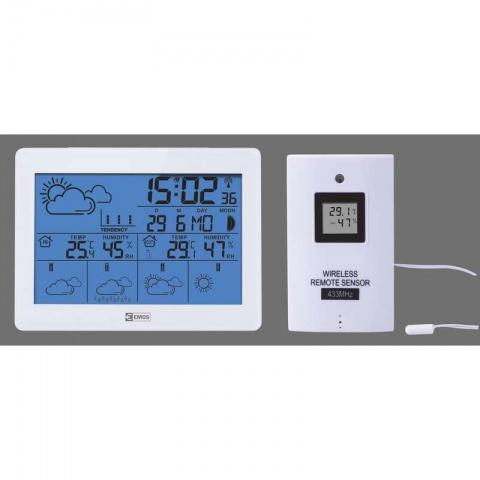 LCD domáca bezdrôtová meteostanica E5068