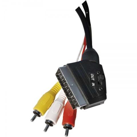 Kábel SCART/M - 3RCA/M 1,5m