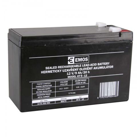 Olovený akumulátor SLA 12V 9Ah FA6,3, AGM