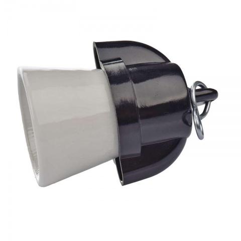 Objímka na žiarovku E27 1332-407 s háčikom