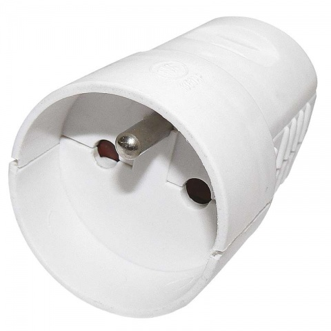 Zásuvka pre predlžovací kábel, biela