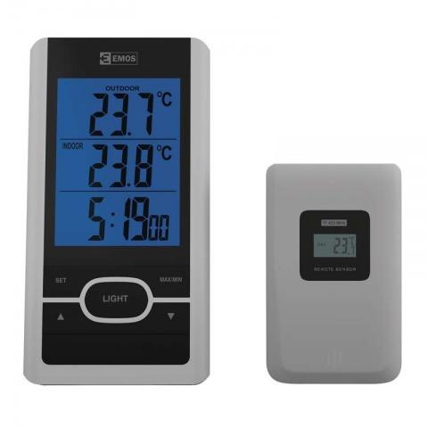 Digitálny bezdrôtový teplomer E0107T + 1x čidlo