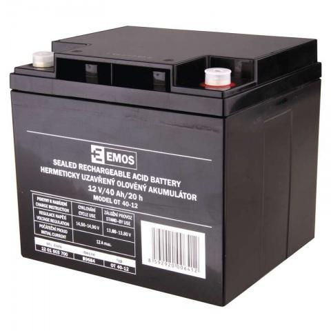 Olovená akumulátor SLA 12 V 40 Ah M6, AGM