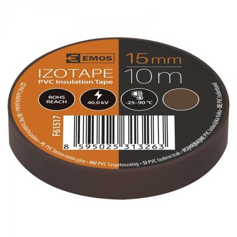 Izolačná páska PVC 15mm/10m hnedá