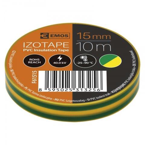 Izolačná páska PVC 15mm/10m zeleno-žltá