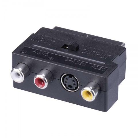 Redukcia SCART na 3x CINCH + SVHS adaptér A