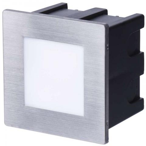 LED orientačné svietidlo, štvorec 1,5 W teplá biela IP65
