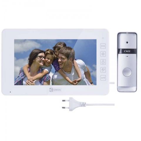 Domáci videotelefón, farebná sada H2015 biela