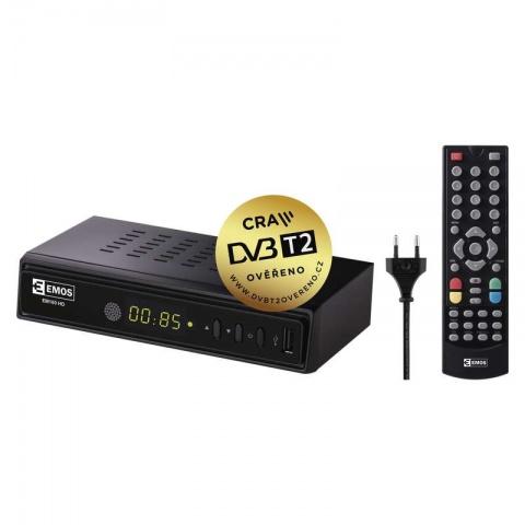 Set top box EMOS EM180 HEVC H265 (DVB-T2 prijímač)