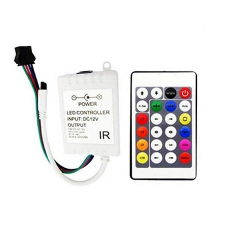 Digital controler RGB IR IC 24key 72W do 1000 pixelov WS2811