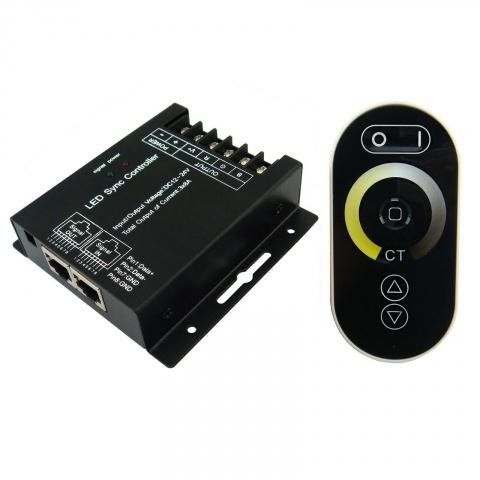 RF kontroler DUAL-WHITE LED 144W 12V dotykový