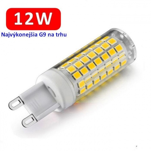 LED žiarovka 12W 230V Studená biela G9