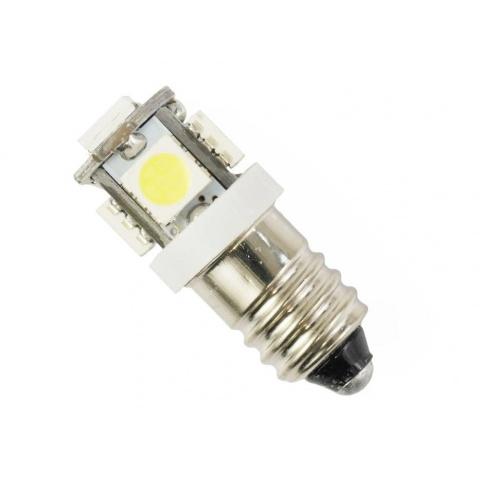 LED žiarovka 12V 1W studená biela, E10