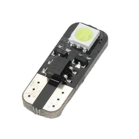 LED auto žiarovka T10 2 LED SMD5050 studená biela CANBUS