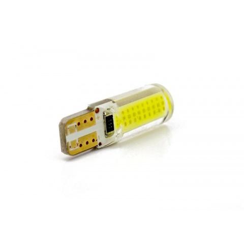 LED auto žiarovka Canbus resistor, Studena biela, T10