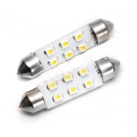 LED auto žiarovka 36mm C5W 6 SMD 1210