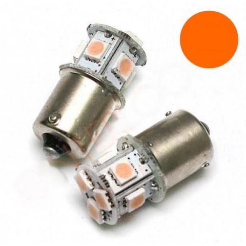 LED auto žiarovka BA15S P21W - Oranžová