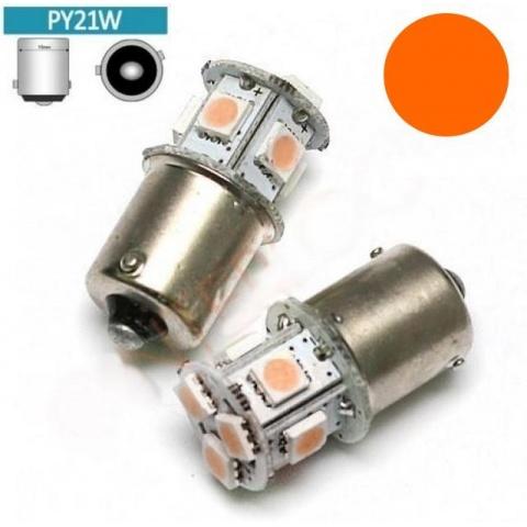 LED auto žiarovka BA15S Py21W - Oranžová