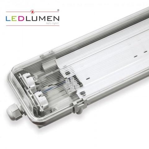 Prachotesné svietidlo 120cm pre 2xT8 120cm - jednostranné napájanie