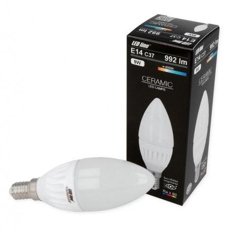 LED žiarovka 9W Neutrálna biela Ceramic E14