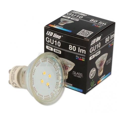LED žiarovka 1W Neutrálna biela SMD2835 GU10