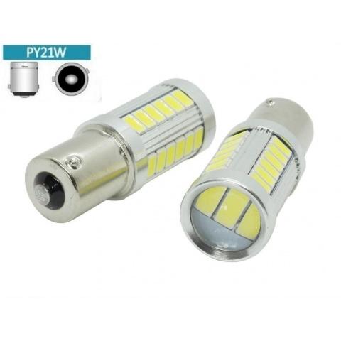 LED auto žiarovka 5W BA15S 33x SMD5630 Py21W
