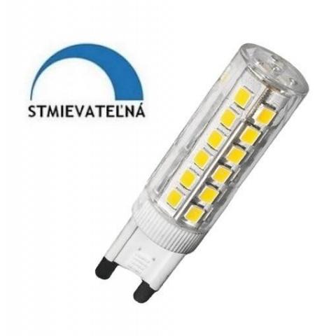Stmievateľná LED žiarovka 6W teplá biela G9