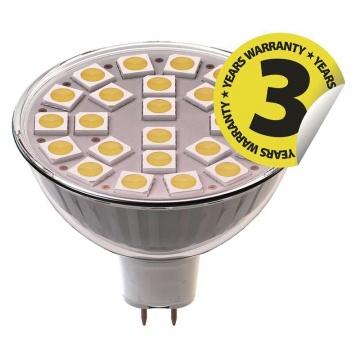 LED žiarovka Classic MR16 4,2W GU10 studená biela