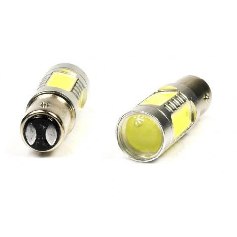 Dvojvláknová auto LED žiarovka BA15S  7.5W P21W CW