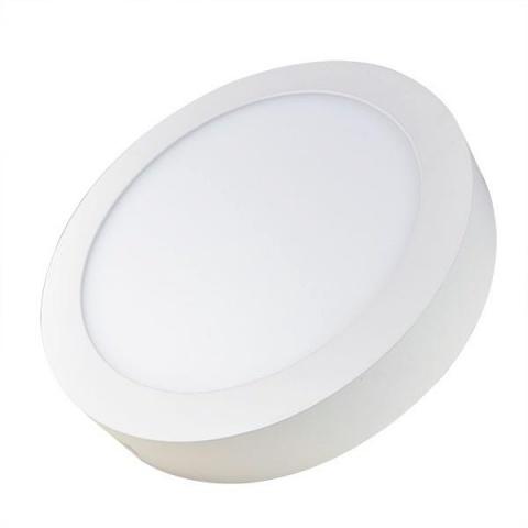 Prisadený LED panel 12W Teplá bielá, biely rám