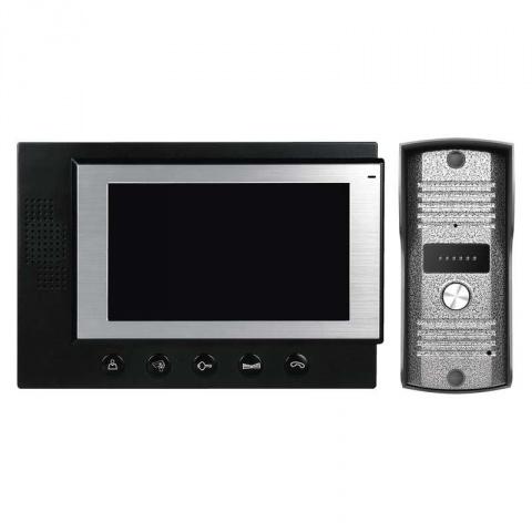 Domáci videotelefón, farebná sada H2012 čierna