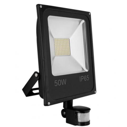 LUMIXA LED reflektor 50W Neutrálna biela + senzor pohybu