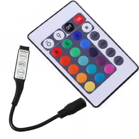 IR kontrolér RGB 72W MINI 6A 12VDC 24 key čierny