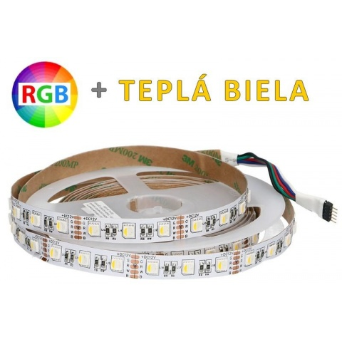 1m LED pasik 30 SMD5050 RGB+WW 7.2W/m IP20 (max. 50m)