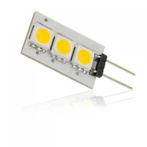 LED žiarovka 3 SMD5050, 0.5W Studená, G4