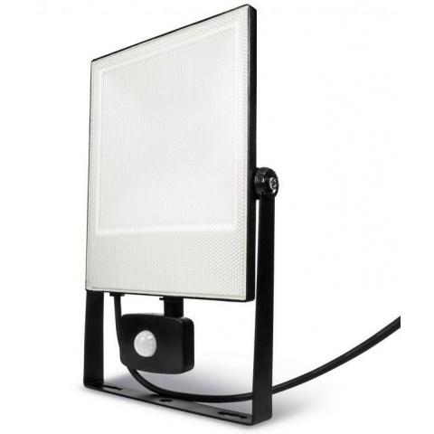 LED reflektor 50W + senzor pohybu, Studená biela