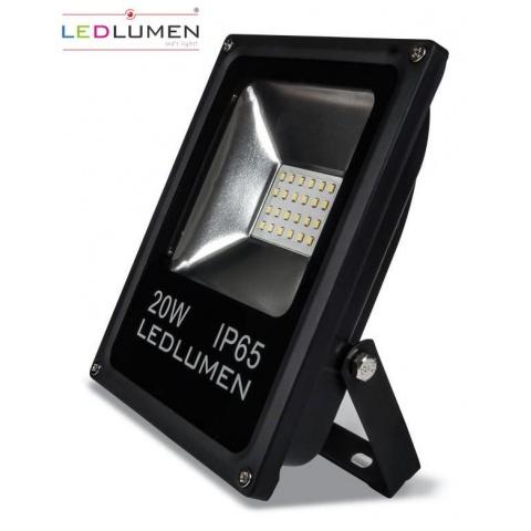 SMD LED reflektor 20W SMD2835 LED IP65 Studená biela