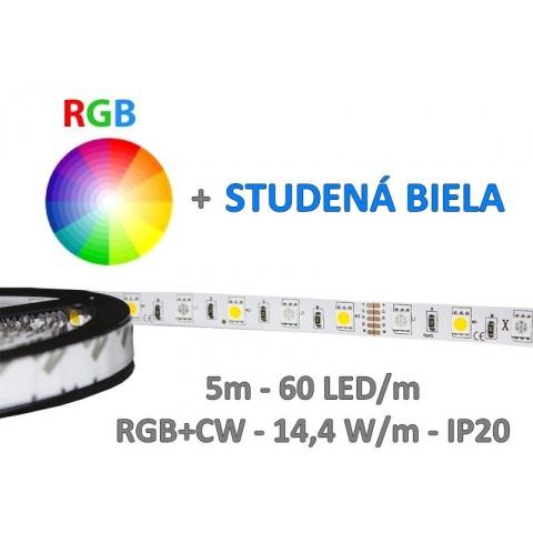 5m RGB+CW LED pás SMD5050 72W IP20
