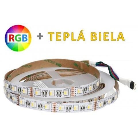 1m LED pás 14.4W/m 60 SMD5050 4-chip RGBWW IP20 RGB + teplá biela