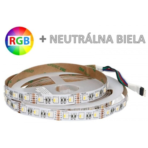 1m LED pás 4-chip RGB+NW 30xSMD5050 7.2W IP20 (Max.50m)