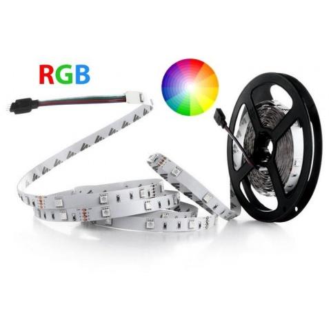 1m RGB LED pásik do interiéru 30 SMD5050/m 7.2W/m IP20 (rolka 50m)