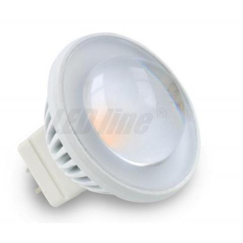60° LED žiarovka 3.5W 240lm Neutrálna biela 12V DC 220lm MR11