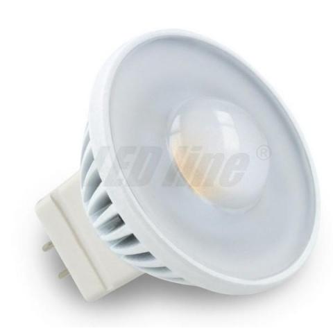 30° LED žiarovka 3.5W 240lm Teplá biela 12V DC 220lm MR11