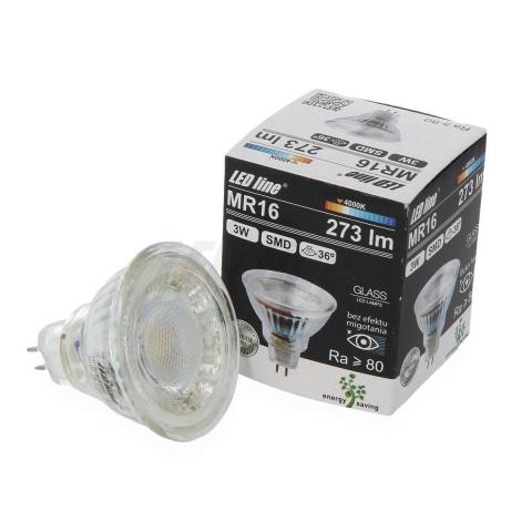 LED žiarovka 3W Teplá biela 10~14V AC/DC MR16