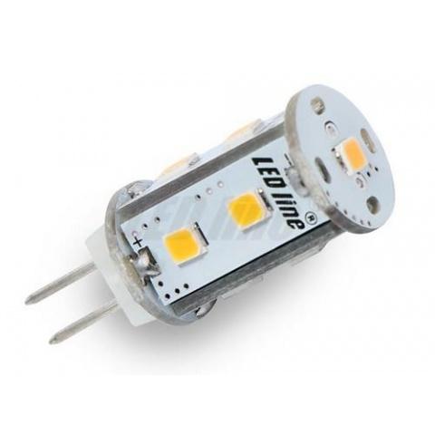 LED žiarovka 9 SMD 2835 CCD 1.8W AC/DC teplá, G4